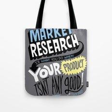 Market Research Tote Bag