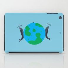 Blue Whales Love Song iPad Case