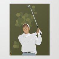 Tiger Woods Canvas Print