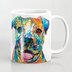 Colorful Dog Pit Bull Art - Happy - By Sharon Cummings Mug