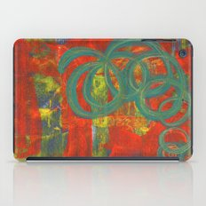 Green spirals iPad Case