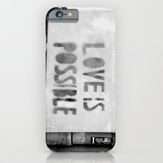 Love is possible - Berlin stencil iPhone 6 Slim Case