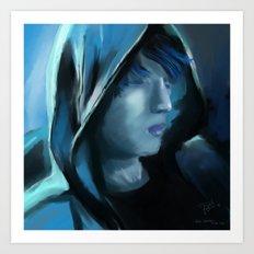 Blue Serenity Art Print