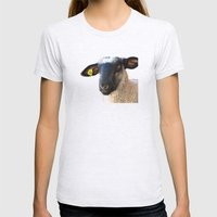 Lamb #0487 Womens Fitted Tee Ash Grey SMALL