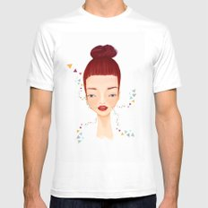 freckles Mens Fitted Tee White SMALL