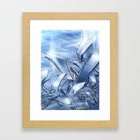 Mystique Blue Framed Art Print