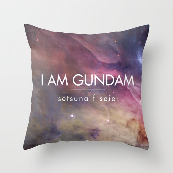 Gundam Retro Space 2 Throw Pillow