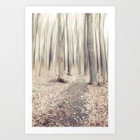 Walking Through The Last… Art Print