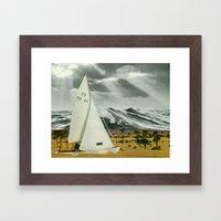 Sand Ship Framed Art Print