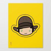Indiana Jones Kawaii Canvas Print