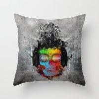 Rebel music Throw Pillow