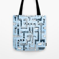 Which Way To The Bathroom? Tote Bag