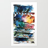 comic strips 1 Art Print