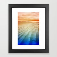 life on the beach Framed Art Print