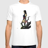 Psylocke (landscape) Mens Fitted Tee White SMALL