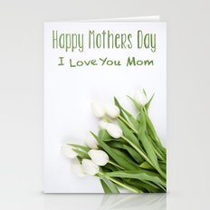 Love You Mom - Mothers D… Stationery Cards