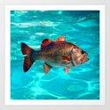 glitterfish Art Print