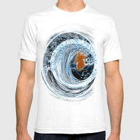 Gold In Blue Mens Fitted Tee White SMALL