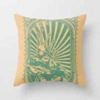 Frog king Throw Pillow