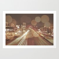 Light Streaks Art Print