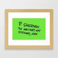 P. Sherman, 42 Wallaby Way Framed Art Print