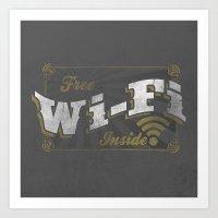 Vintage Wifi Art Print