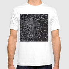 Jelly Fish Mens Fitted Tee SMALL White