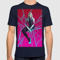 SPDR-GWEN Mens Fitted Tee Navy SMALL