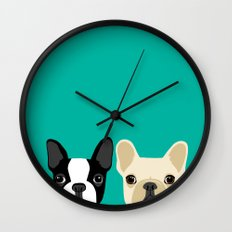 Boston Terrier & French … Wall Clock