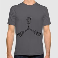Back to the Future - Flux Capacitor Mens Fitted Tee Asphalt SMALL
