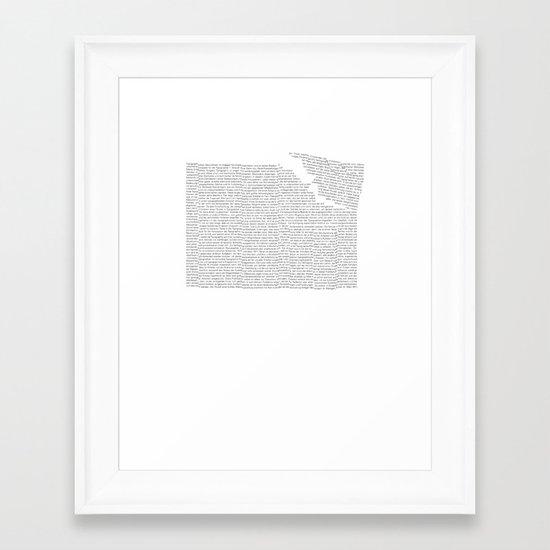 Erosion & Typography 2 Framed Art Print