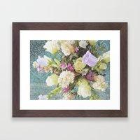 Festive Vintage Floral Framed Art Print