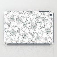 Cherry Blossom Mint iPad Case
