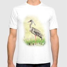 Heron SMALL White Mens Fitted Tee
