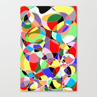 Canvas Print featuring Love Doodles by DeMoose_Art