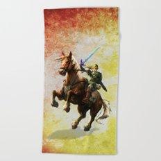 Legend Of Zelda Link Adventure Beach Towel