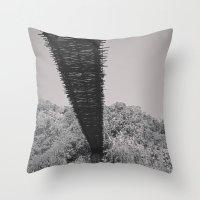 Monkey Sanctuary - Underside of bridge Throw Pillow