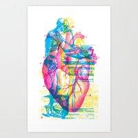 Andreae Vesalii Montage Art Print