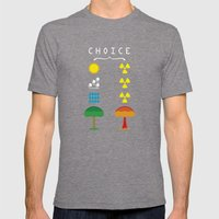 Choice Mens Fitted Tee Tri-Grey SMALL
