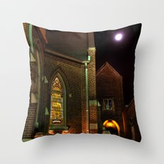 Stained Glass Starry Night Throw Pillow