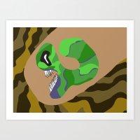 Alien Worm Art Print