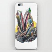 Rainbow Metallic Crystals iPhone & iPod Skin