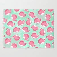 Pink Unicorn LTK pattern Canvas Print