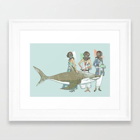 In Oceanic Fashion Framed Art Print