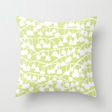Lily of the Valley repeat Throw Pillow
