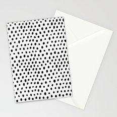 Polka dot rain Stationery Cards