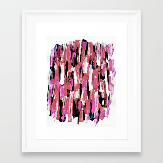 Colourful Feathers Framed Art Print