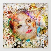 Retro Woman Canvas Print