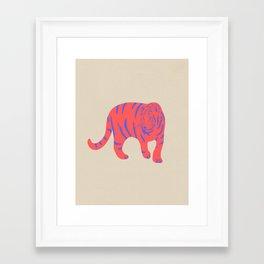 Framed Art Print - Uzual Tiger, Tiger print, animal print, nursery art - uzualsunday