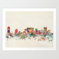 City Nashville Tennessee Art Print